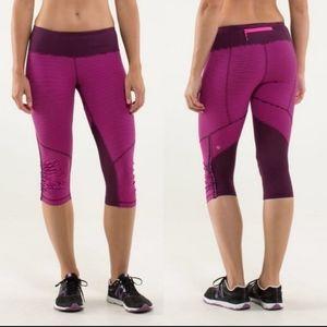 Lululemon run: for your life crop legging